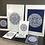 Thumbnail: Sahara Mandala Print White & Navy