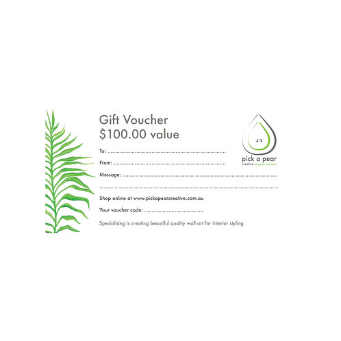 Gift Voucher | Value $100