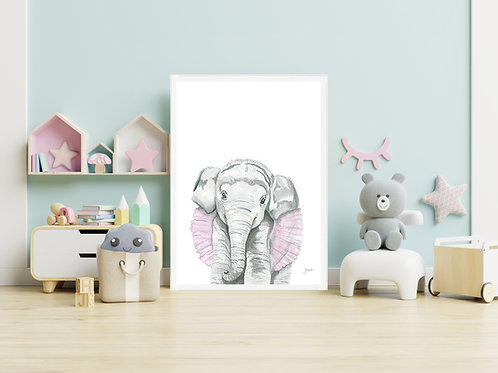 Lacey the Elephant | FRAMED