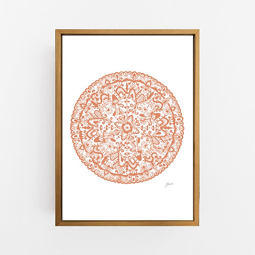 Sahara Mandala in Sandstone Wall Art | CANVAS
