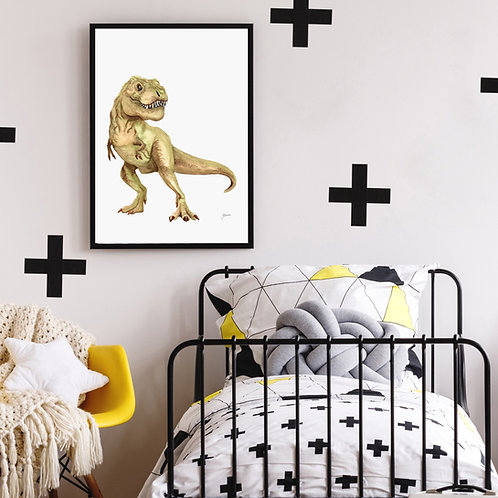 Maximus Tyrannosaurus T-Rex Dinosaur Print