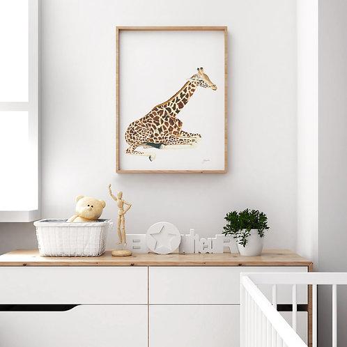 Geoffrey the Baby Giraffe Print