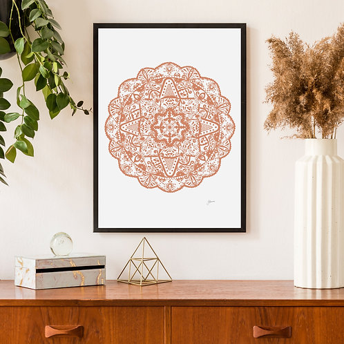 Marrakesh Mandala Print in Sandstone