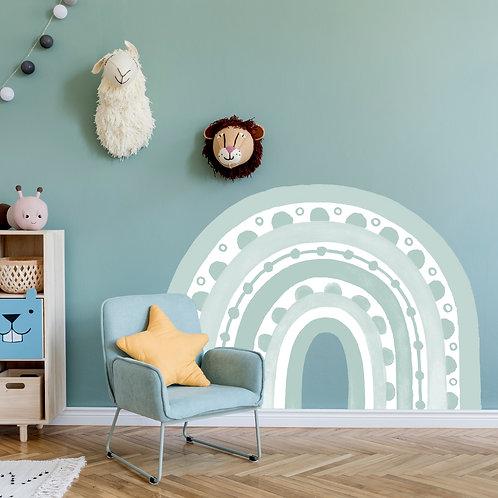 Rainbow Arch in Haze Duck Egg Blue | WALL DECAL