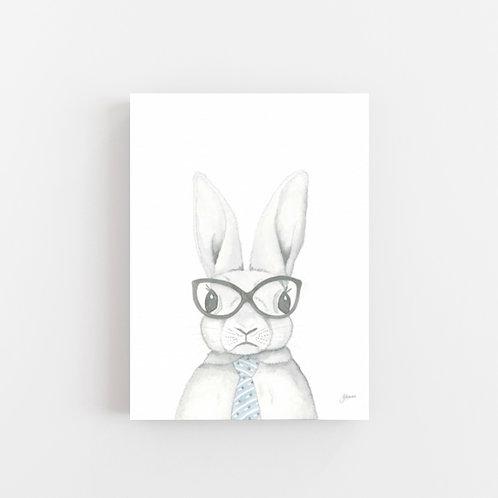 Franklin the Boss Bunny Rabbit Wall Art | CANVAS