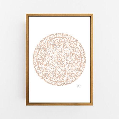 Sahara Mandala in Light Blush Wall Art | CANVAS