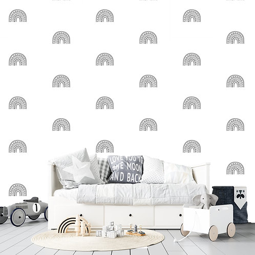 Rainbow Arch Mini in Grey | WALL DECAL
