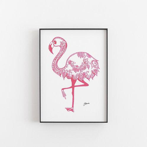 Bohemian Flamingo Stance Print