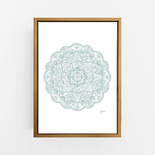Marrakesh Mandala in Haze Wall Art | CANVAS