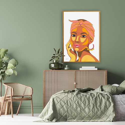 They call me Lola in White Fine Art Print | FRAMED