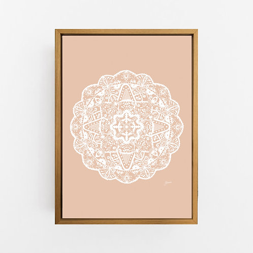 Marrakesh Mandala in Solid Light Blush Wall Art | CANVAS