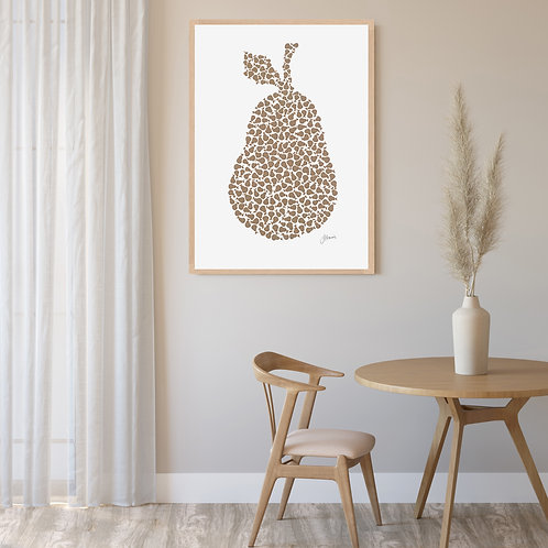 Pear Orchard Wall Art in Bronzed Copper | FRAMED