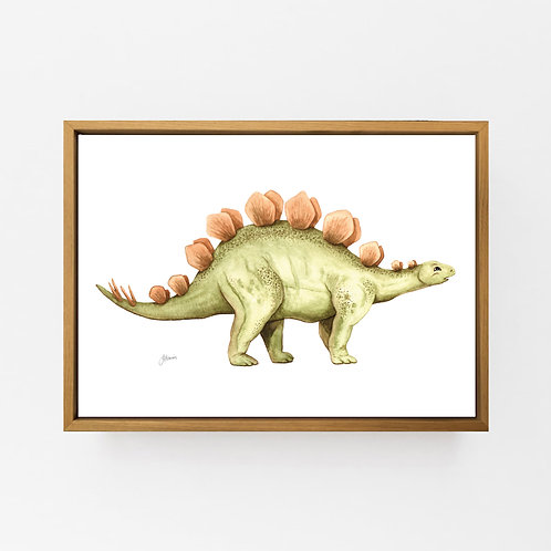 Stavros the Stegosaurus Dinosaur Wall Art | CANVAS