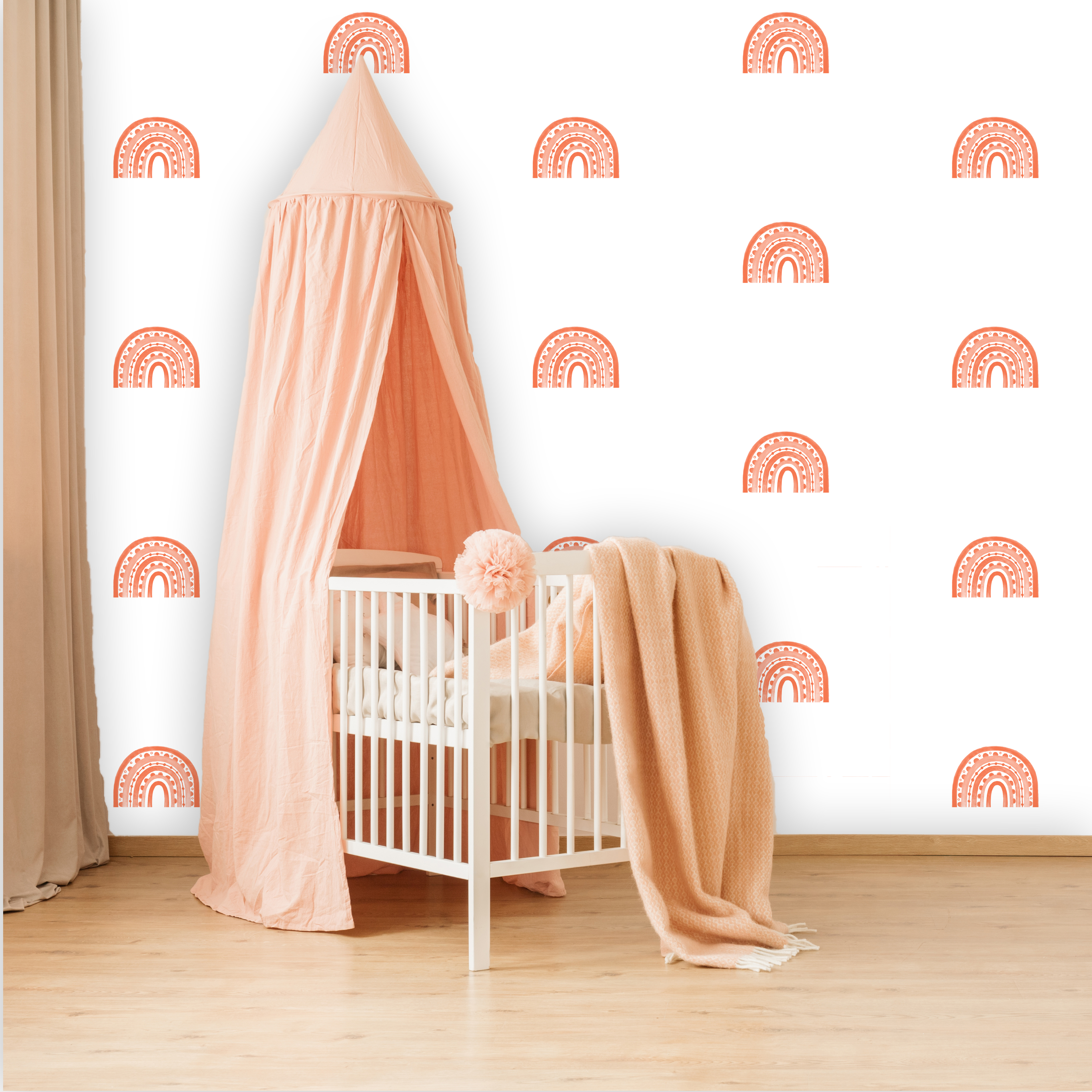 Rainbow Arch Mini in Coral | WALL DECAL
