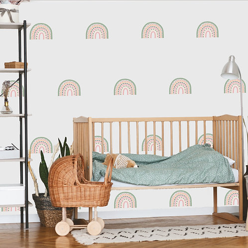Rainbow Arch Mini in Sherbert | WALL DECAL