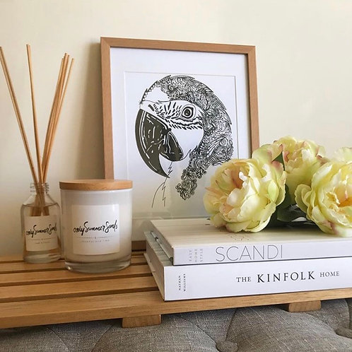 Bohemian Luxe Macaw Parrot Print
