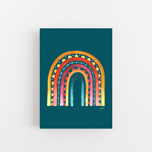 Rainbow Warrior in Sunset Teal Wall Art | CANVAS