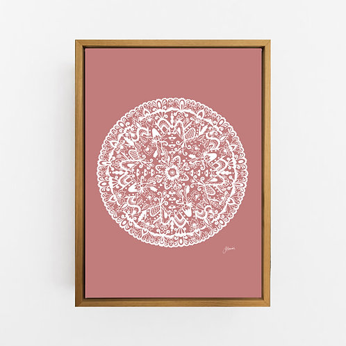 Sahara Mandala in Solid Blush Pink Wall Art | CANVAS