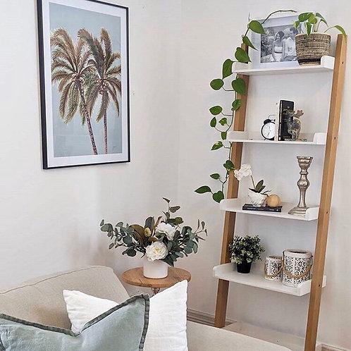 Palm Breeze Duo in Haze Fine Art Print | FRAMED