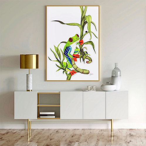 Archie the Red Eyed Tree Frog Print