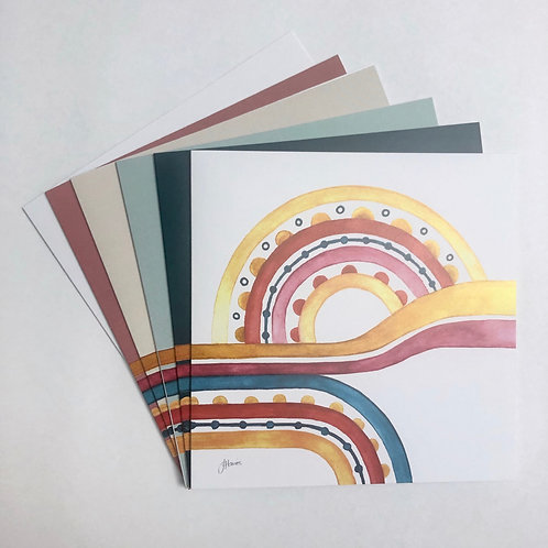 Little River Love Greeting Card 6 Pack | Various Colours