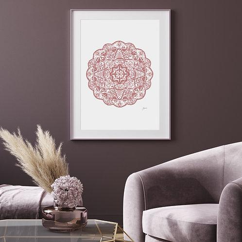 Marrakesh Mandala in Blush Pink Wall Art | FRAMED