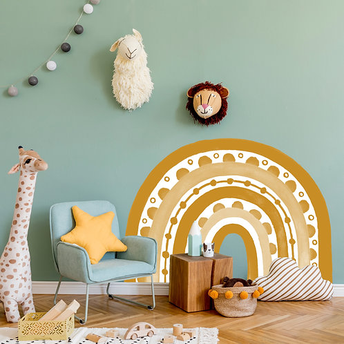 Rainbow Arch in Mustard | WALL DECAL