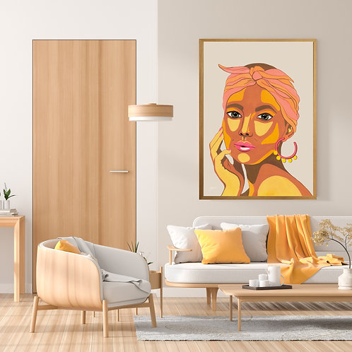 They call me Lola Art Print in Ivory