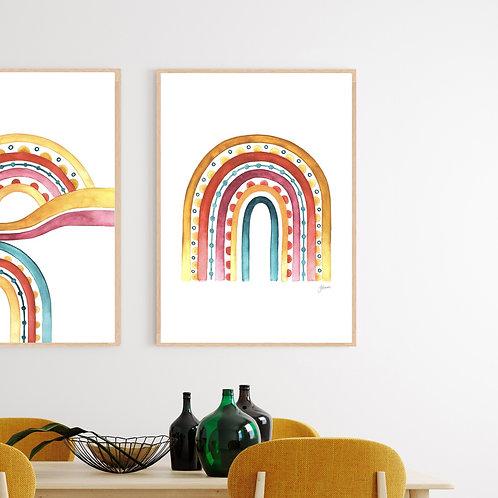 Rainbow Warrior in White Fine Art Print | FRAMED