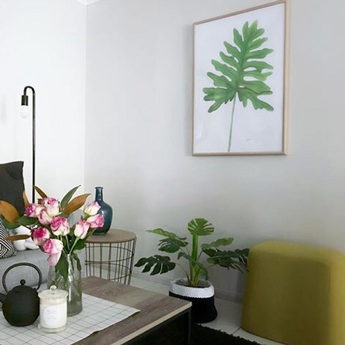 Philodendron Living Art Leaf Print