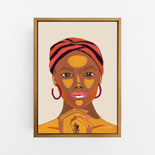 Lady Lila in Ivory Art Print | CANVAS