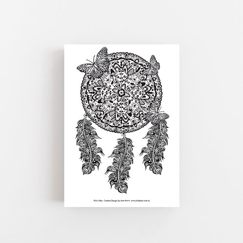 """FREE"" The Bohemian Dreamcatcher A4 & A3 size 