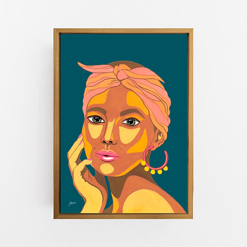 They call me Lola in Dark Teal Art Print | CANVAS