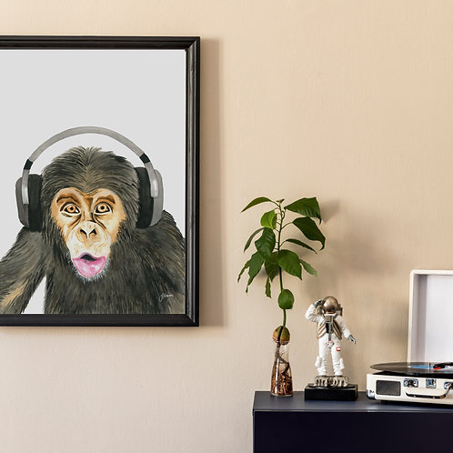 Kelvin the Music Monkey Print