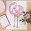 Thumbnail: Bohemian Love Flamingo Print