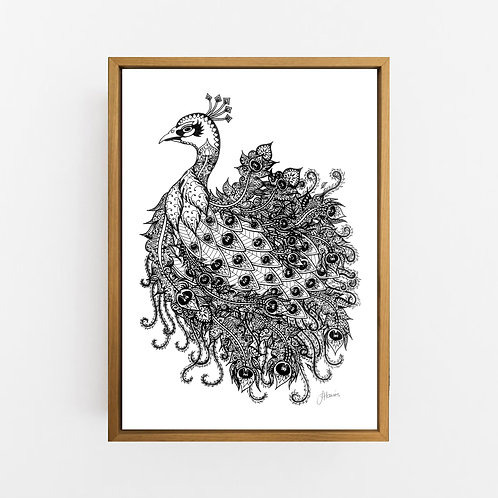Bohemian Royal Peacock Wall Art | CANVAS