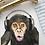 Thumbnail: Kelvin the Music Monkey Fine Art Print | FRAMED