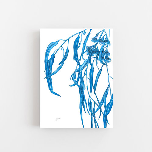 Navy Gum Leaf Flora 1 Wall Art | CANVAS
