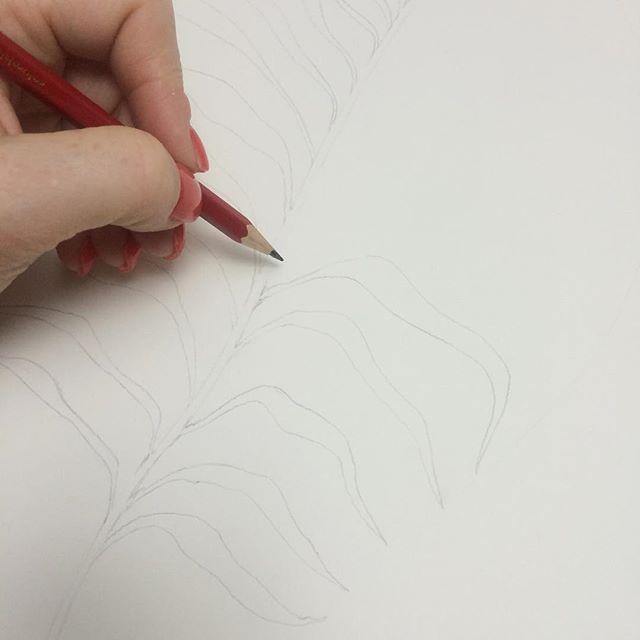 Sketching a new art piece