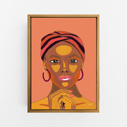 Lady Lila in Sandstone Art Print | CANVAS