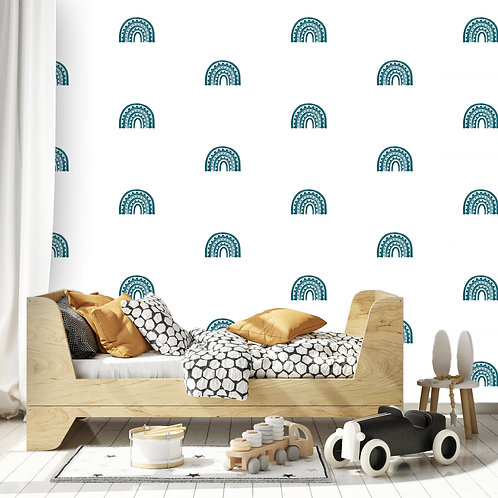 Rainbow Arch Mini in Teal | WALL DECAL