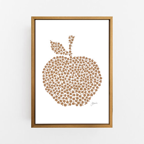Apple Orchard in Bronzed Copper Wall Art | CANVAS