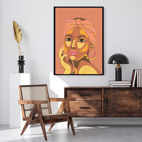 They call me Lola Art Print in Sandstone