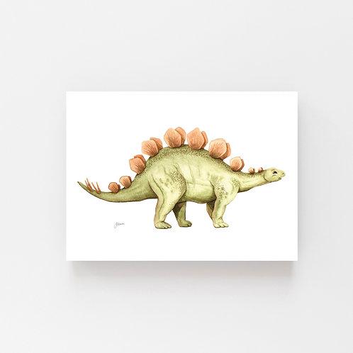 Stavros the Stegosaurus Dinosaur Wall Art   CANVAS
