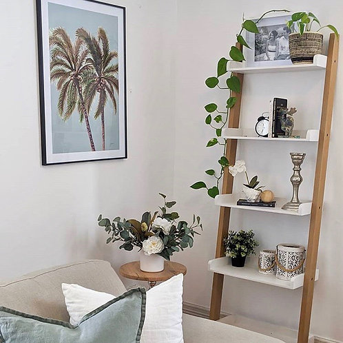 Palm Breeze in Haze Art Print