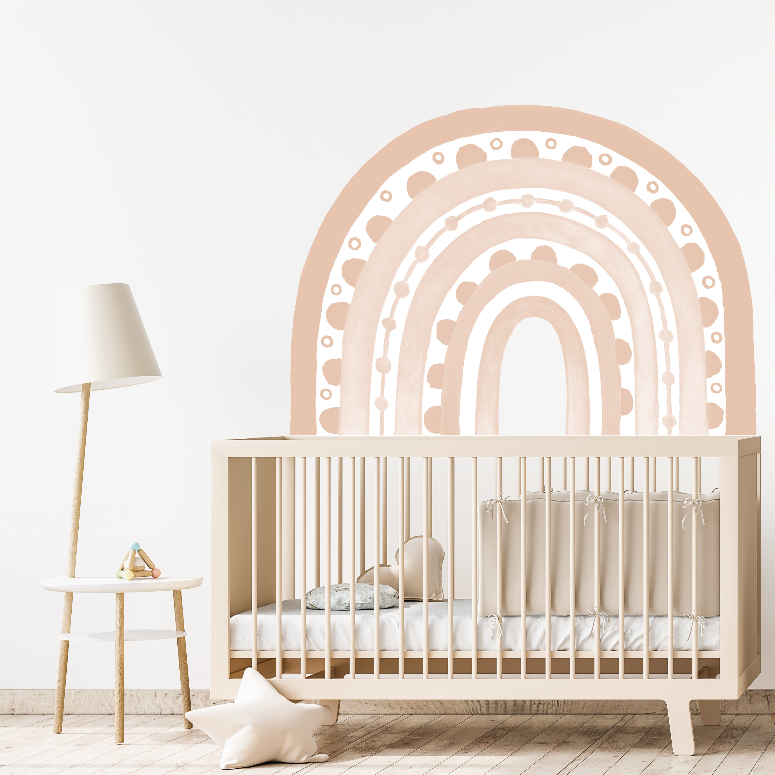 Rainbow Arch in Light Blush Pink | WALL DECAL