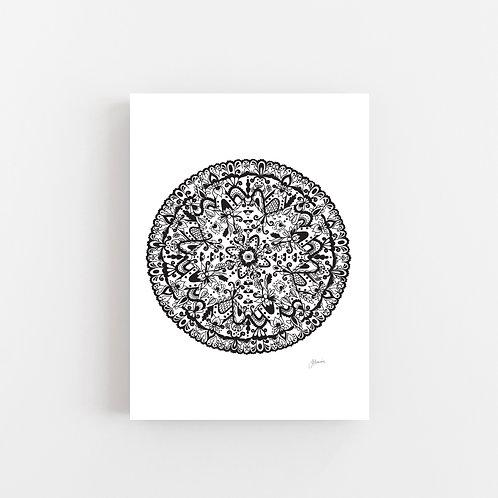 Sahara Mandala in Black Wall Art | CANVAS