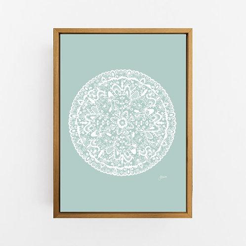Sahara Mandala in Solid Haze Wall Art | CANVAS
