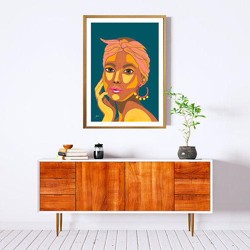They call me Lola in Dark Teal Fine Art Print | FRAMED