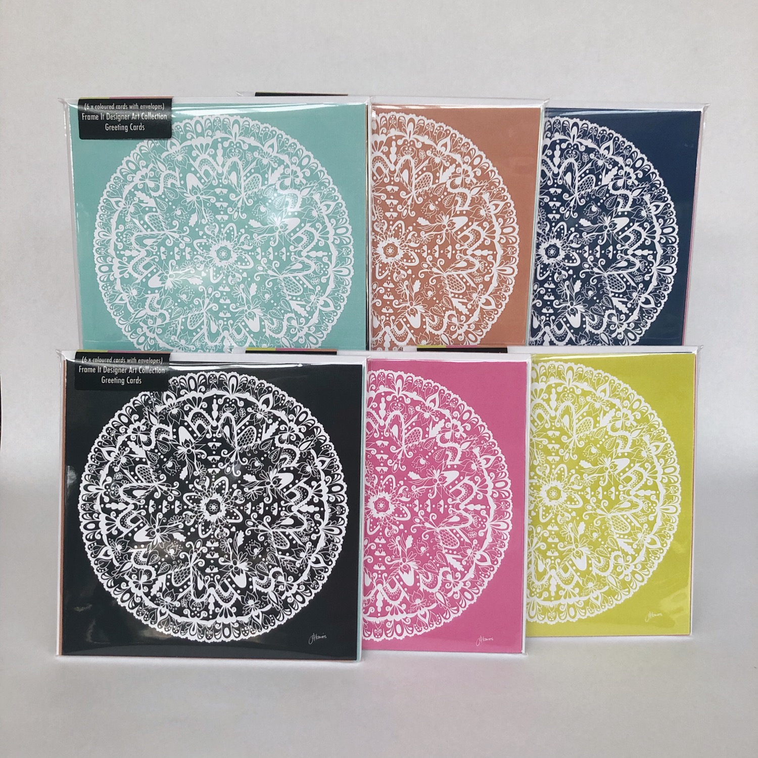 Sahara Solid Decor Mandala Greeting Card 155x155 | Various Colours
